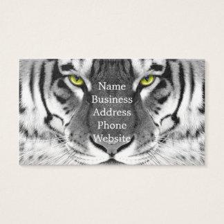 Het gezicht van de tijger - witte tijger - visitekaartjes