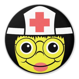 Het Gezicht van de verpleegster Keramische Knop