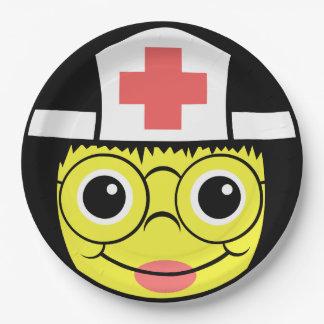 Het Gezicht van de verpleegster Papieren Bordje