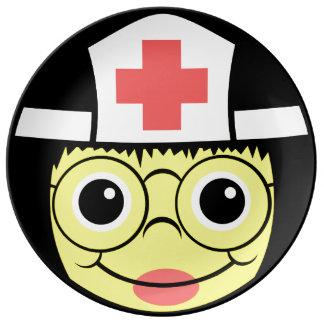 Het Gezicht van de verpleegster Porseleinen Bord