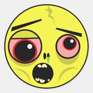 Het Gezicht van de zombie Ronde Sticker