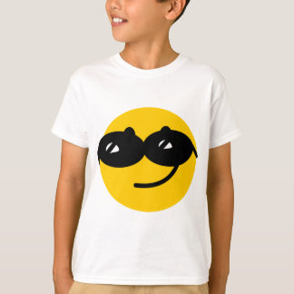 Het gezicht van de zonnebrilsmiley van Flirty T Shirt