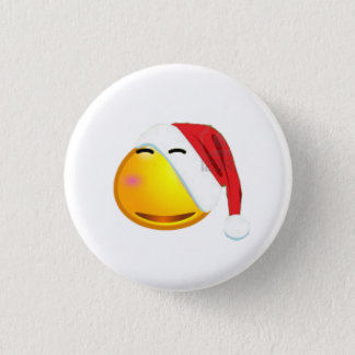 het gezicht van glimlachKerstmis Ronde Button 3,2 Cm