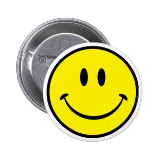 Het Gezicht van het Geluk van Smiley Ronde Button 5,7 Cm