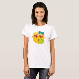 Het Gezicht van Kissy van de Ogen van het Hart van T Shirt