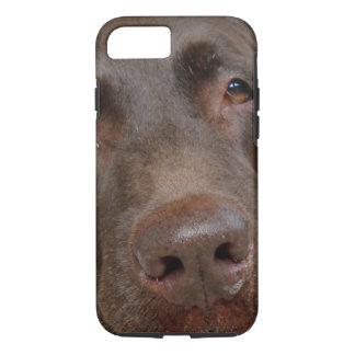 Het Gezicht van Labrador van de chocolade iPhone 7 Hoesje