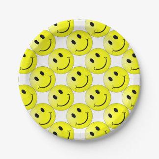 Het Gezicht van Smiley Papieren Bordje