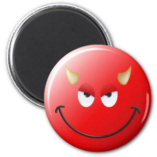 Het Gezicht van Smiley van de duivel Ronde Magneet 5,7 Cm