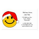 Het Gezicht van Smiley van de Kerstman van Kerstmi Visitekaartjes