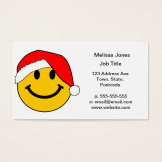Het Gezicht van Smiley van de Kerstman van Visitekaartjes