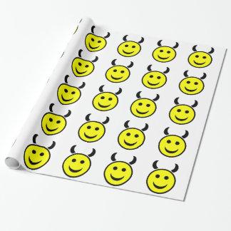 Het Gezicht van Smiley van Raver Cadeaupapier