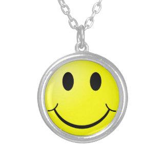 Het Gezicht van Smiley Zilver Vergulden Ketting