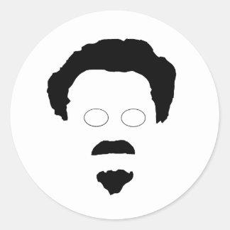 Het gezicht van Trotsky Ronde Sticker