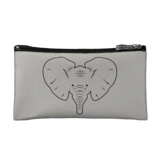 Het gezichtssilhouet van de olifant cosmetica tasje