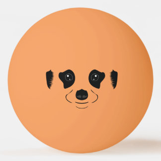 Het gezichtssilhouet van Meerkat Pingpongbal