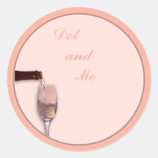 Het gieten Champagne Ronde Sticker