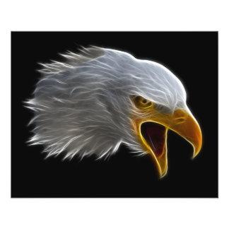 Het gillen Amerikaans Kaal Eagle Hoofd Flyer 11,4 X 14,2 Cm