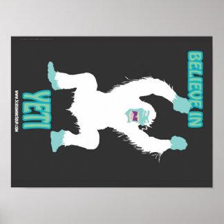 HET GILLEN SOEP! Geloof in het Poster van de Yeti
