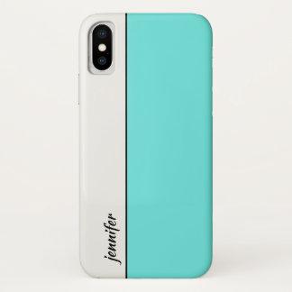 Het gladde Blok van de Kleur van de Stijl met Uw iPhone X Hoesje