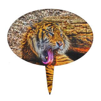 Het gladstrijken van Art. van het Wild van de Kat Cake Toppers