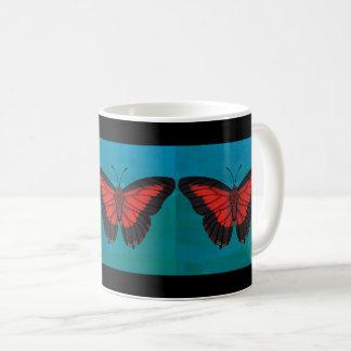 Het glanzen Rode Vlinder Charaxes Koffiemok