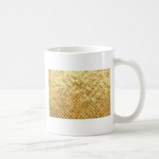 Het glanzende goud schittert achtergrond koffiemok