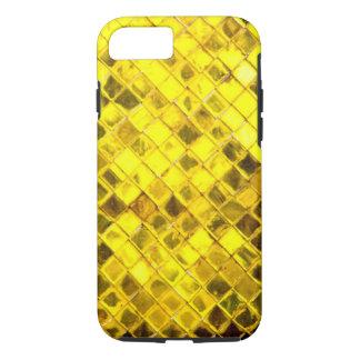 Het glanzende Gouden Patroon van de Diamant iPhone 7 Hoesje