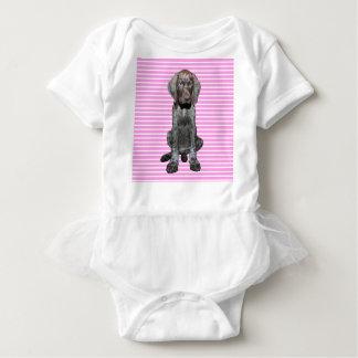 Het glanzende Grijze Meisje van het Puppy Romper