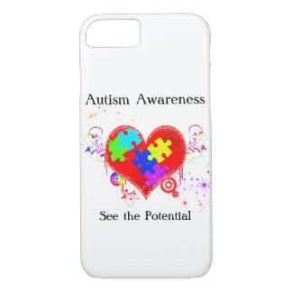 Het Glanzende Hart van het autisme iPhone 8/7 Hoesje
