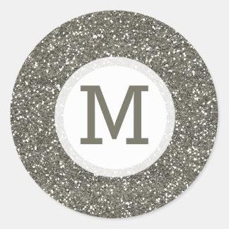 Het glanzende Zilver schittert de Verbinding van Ronde Sticker