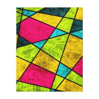 Het glas abstract geometrisch neon van de kleur canvas print