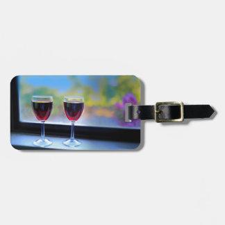 Het Glas van de wijn Kofferlabels