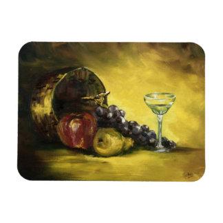 Het Glas van de wijn met de Magneet van het Fruit