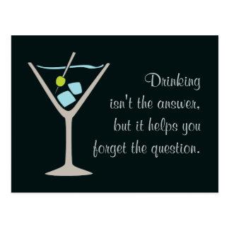 Het Glas van martini Briefkaart