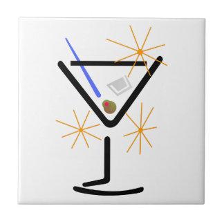 Het Glas van martini Keramisch Tegeltje