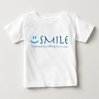 Het glimlach-Blauw van de peuter Baby T Shirts