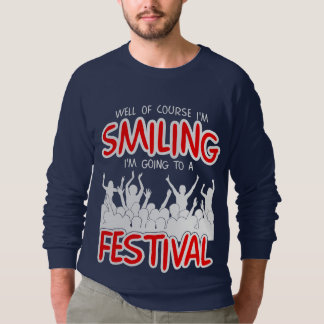 Het GLIMLACHEN FESTIVAL (wht) Sweater