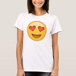 Het glimlachen Gezicht met hart-Gevormde emoji van T Shirt