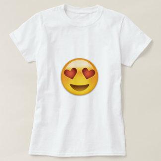 Het glimlachen Gezicht met Hart Gevormde Ogen T Shirt