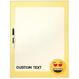 Het glimlachen Gezicht met hart-Gevormde Ogen Whiteboards