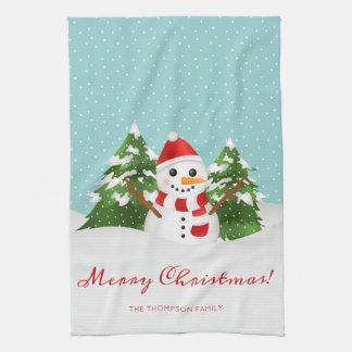 Het glimlachen Kerstmis van de Naam van de Douane Theedoek