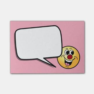 Het glimlachen Smiley Gezicht Grumpey Post-it® Notes