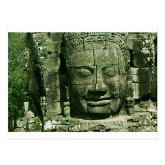 Het Glimlachen van Angkor Gezicht Briefkaart