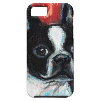 Het glimlachen van Boston Terrier Tough iPhone 5 Hoesje