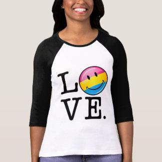 Het Glimlachen van de Liefde van Pansexual Vlag T Shirt