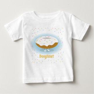 Het glimlachen van Doughnut met bestrooit de Baby T Shirts