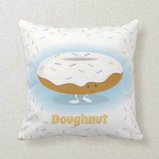 Het glimlachen van Doughnut met bestrooit | werpt Sierkussen