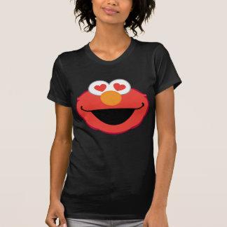 Het Glimlachen van Elmo Gezicht met hart-Gevormde T Shirt