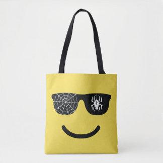 Het Glimlachen van Emoji het Gezicht met Zonnebril Draagtas