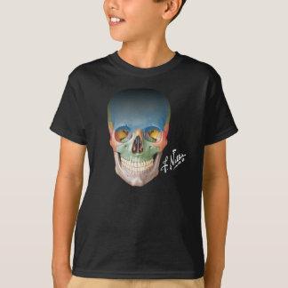Het Glimlachen van Netter Schedel op T Shirt